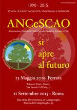"""23 Maggio: """"1990-2015 – 25 anni di ANCeSCAO"""" a Ferrara"""