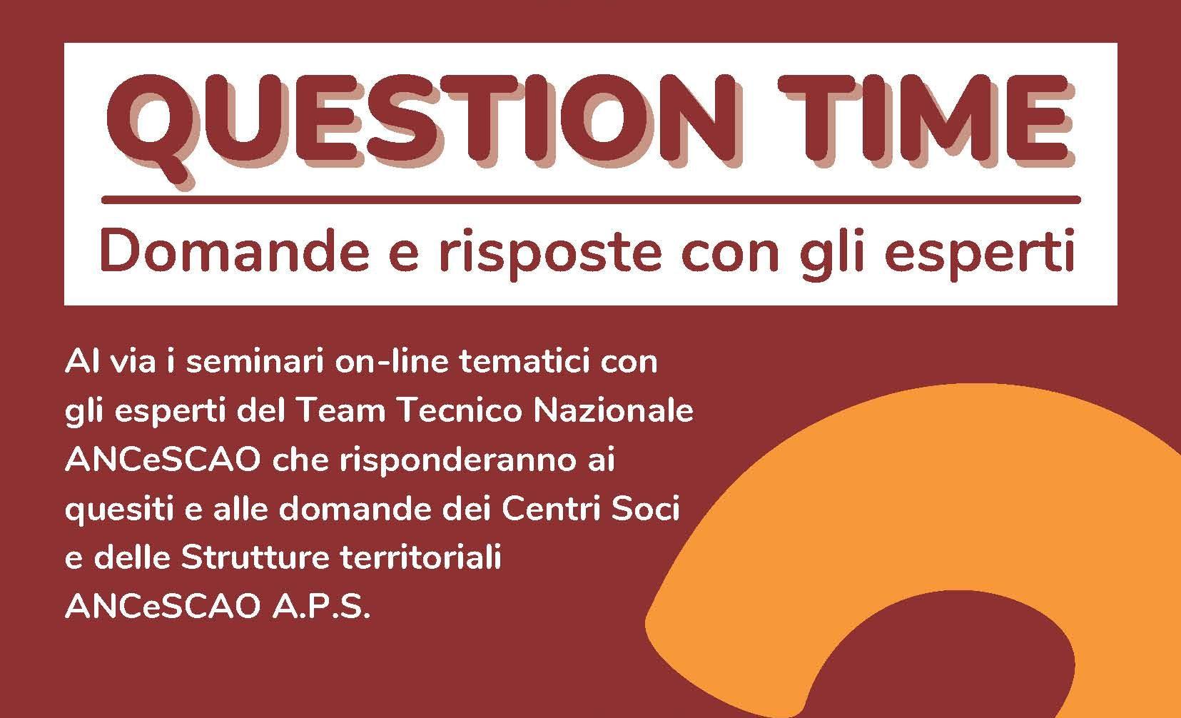 QUESTION TIME: domande e risposte con gli esperti